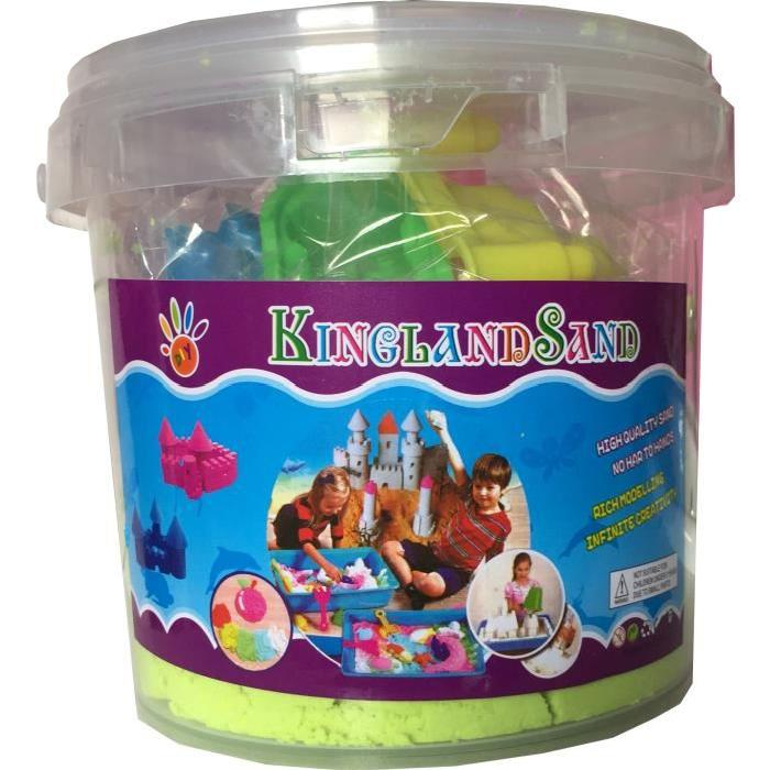 POT DE 1KG DE SABLE MAGIQUE KINGLAND TYPE SUPER SAND + 6 MOULES