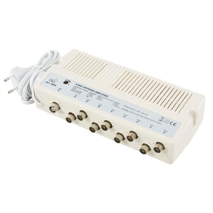 Amplificateur TV avec 8 sortiesPlage de fréquence: 40 862 MHzGain