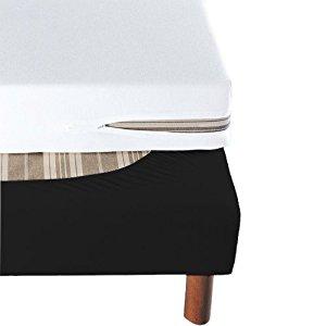 Cache Sommier Noir à Bande Enveloppante 140×190: Cuisine