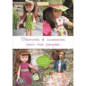 Vêtements et accessoires pour mes poupées broché Lise Paynot