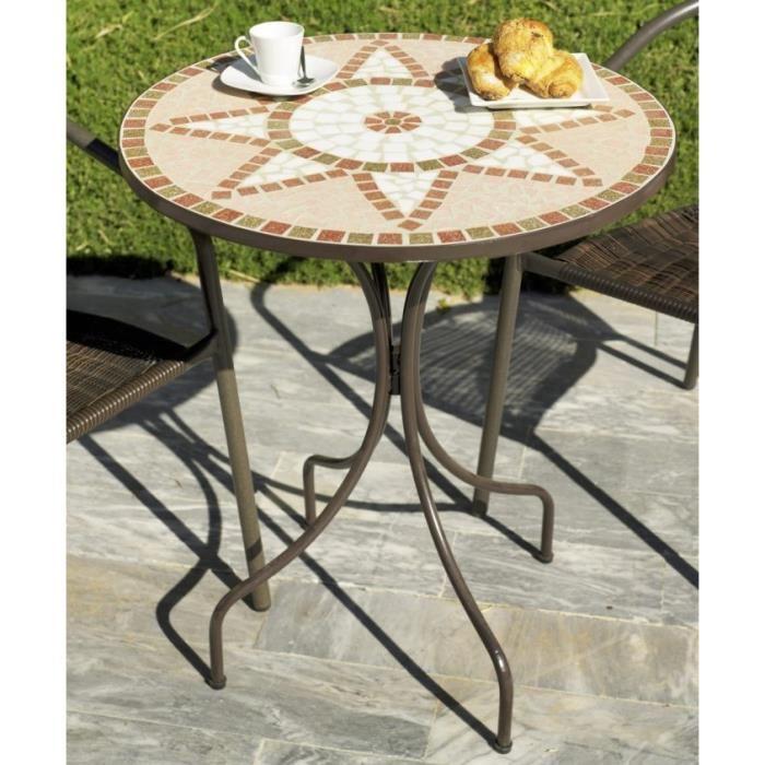 Table de jardin ronde en acier - TopiWall