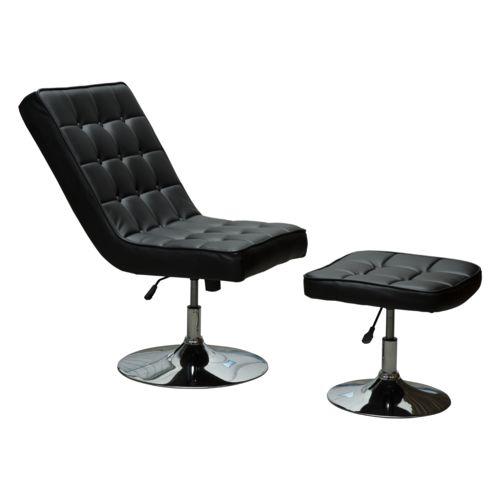 Homcom Boss fauteuil relaxation pivotant avec repose pieds hauteur