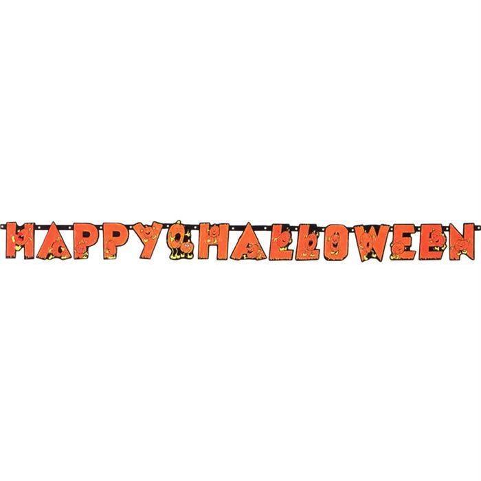 Guirlande «HAPPY HALLOWEEN» Achat / Vente banderole bannière