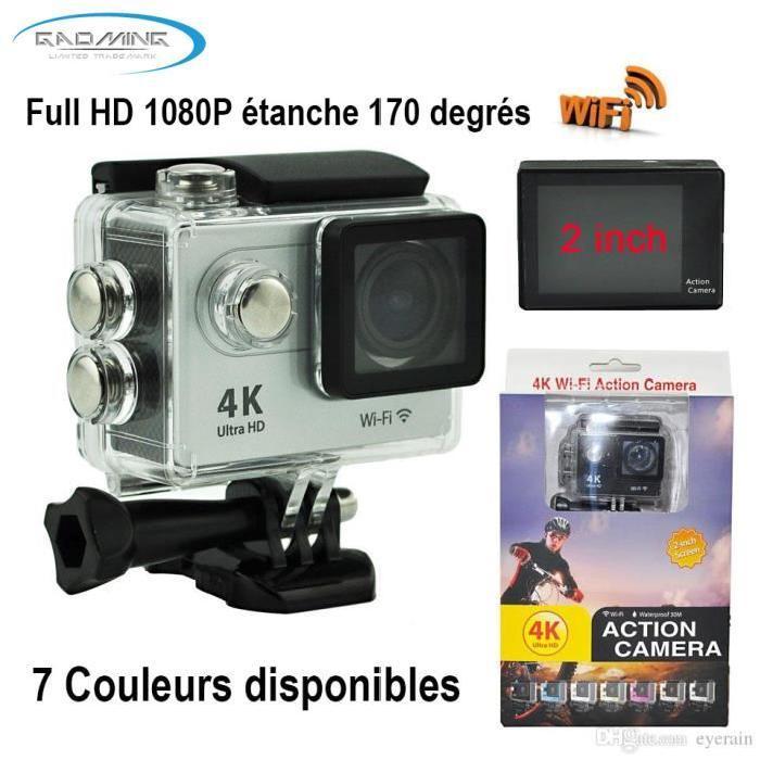 sport wifi étanche 1080P 4K HD grise Achat / Vente caméra sport