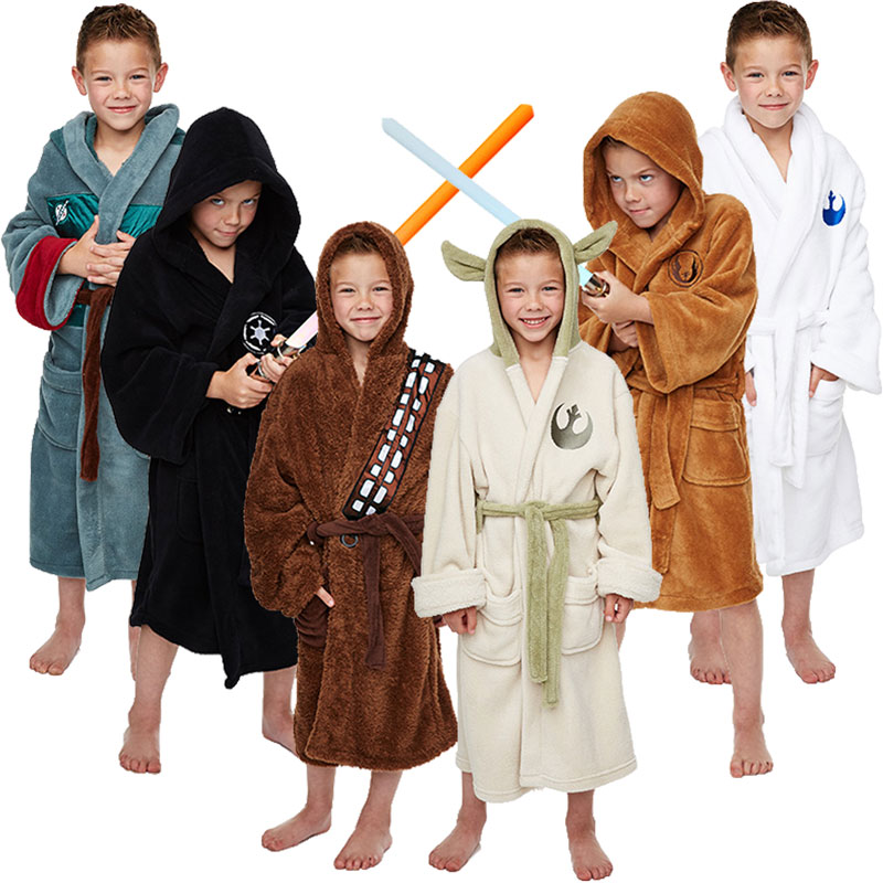 Star Wars Enfants Robe Chambre Luxe Yoda Jedi Darth Vader R2D2 Boba
