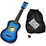 Ts ideen 5285 Guitare acoustique classique 1/4 pour Enfant Bleu clair