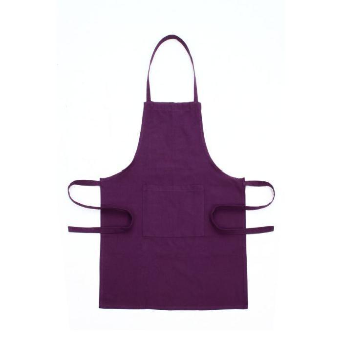 TABLIER Coloris prune Achat / Vente tablier de cuisine
