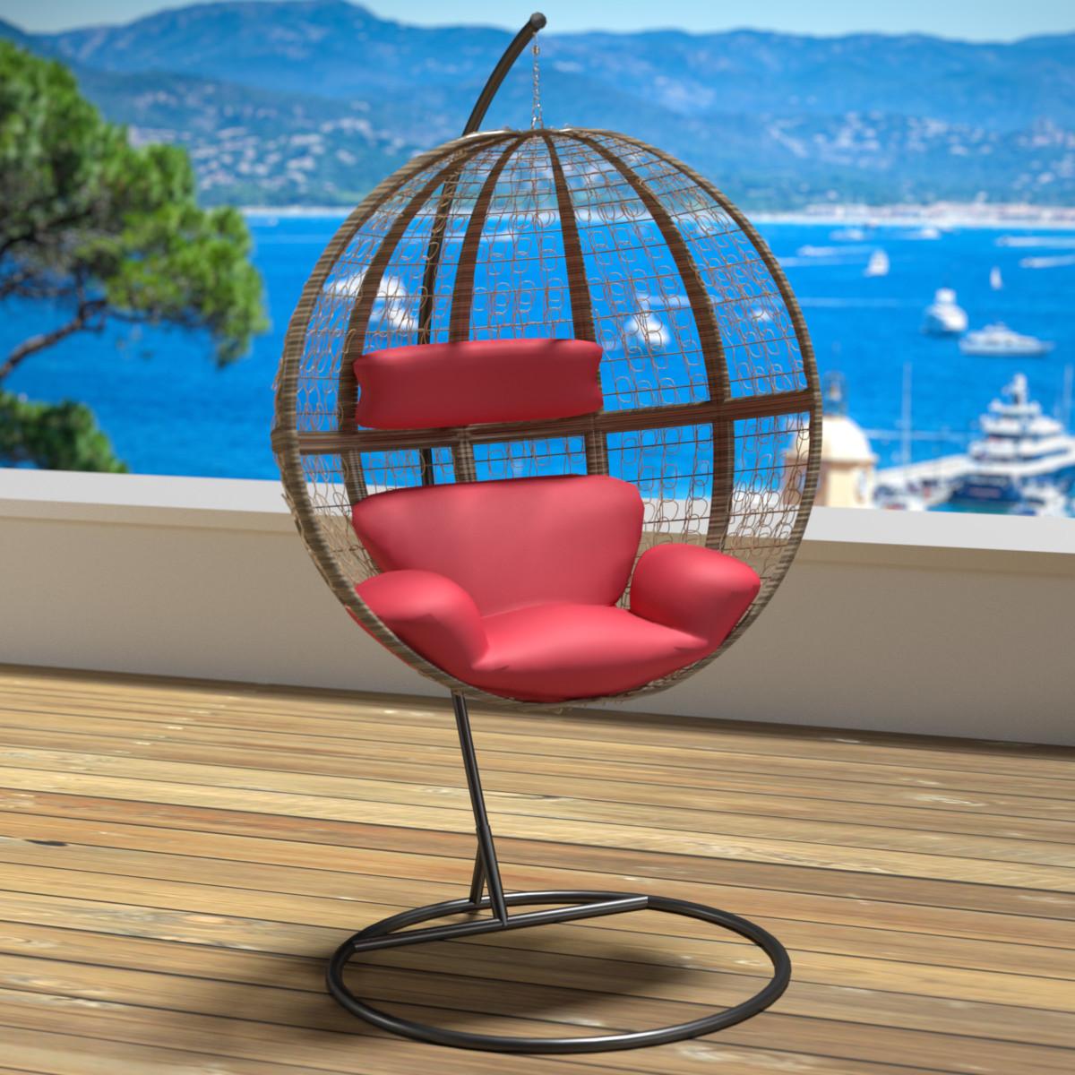 Chaise hamac avec support fauteuil suspendu de jardin balancelle