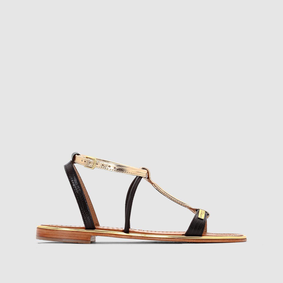 Sandales plates haquina, cuir Les Tropeziennes Par M Belarbi | La