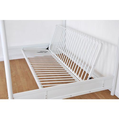 'IMPORT Lit mezzanine 140×190 cm + clic clac en métal blanc Mizzo