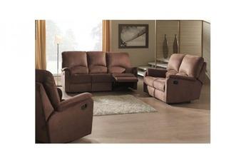 relax electrique 3 places en stock couleur marron relax électrique