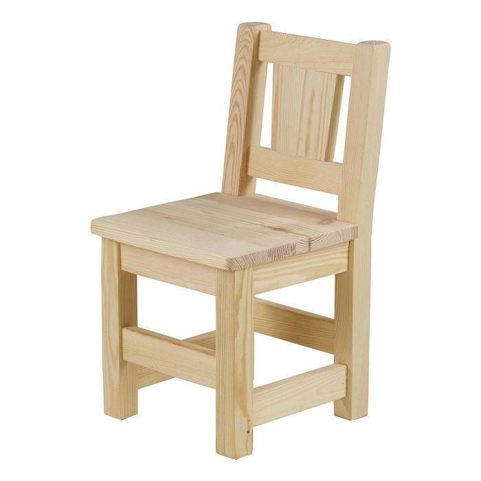 Chaise enfant pin massif brut Lot de 2 Matendance Vous adorerez