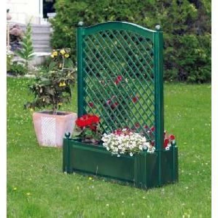 jardiniere plastique double face michele vert