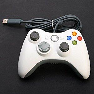 Pour Microsoft XBox 360 Controller Blanc Manette filaire Compatible
