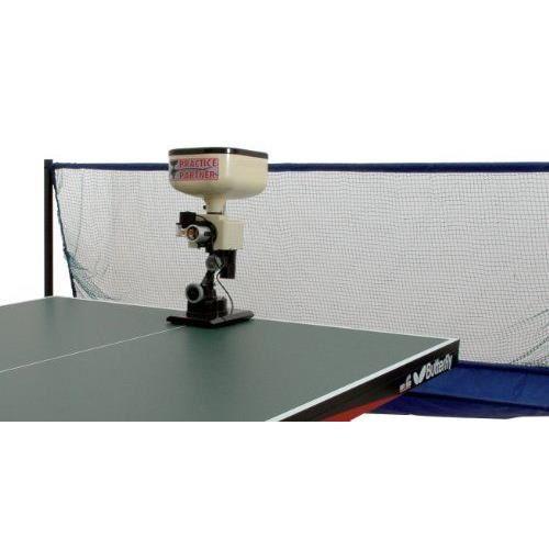 Robot de tennis de table avec filet Crème/Noir Ce robot de tennis