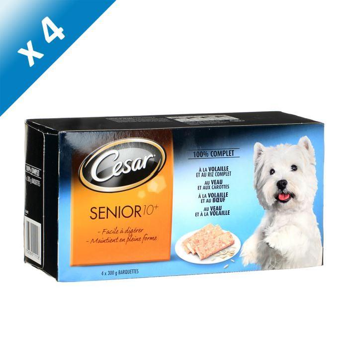 CESAR Senior 10+ 4 variétés pour chien 4 x 300g (4) Achat / Vente