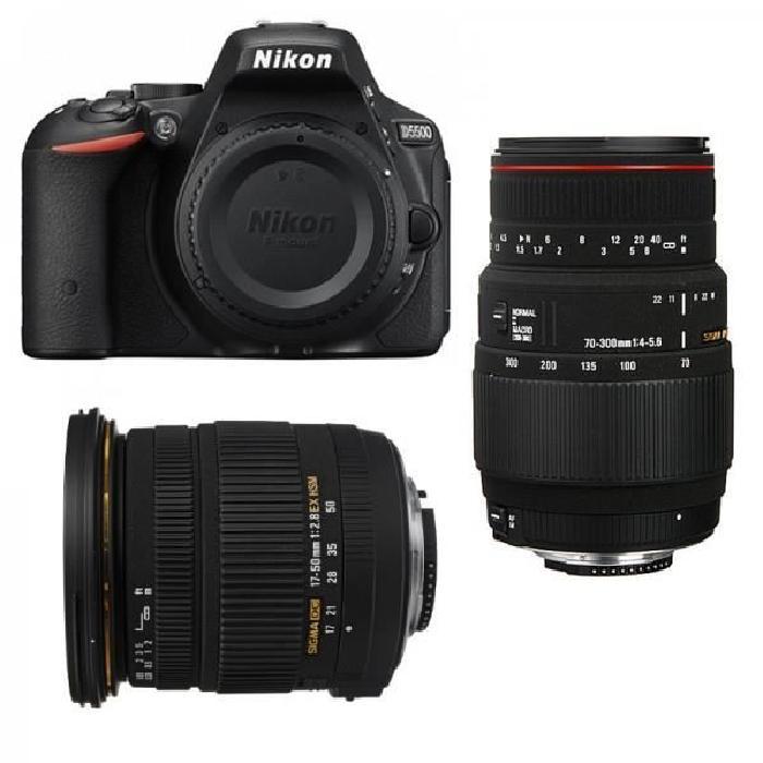NIKON D5500 + SIGMA 17 50 F2,8 DC OS EX HSM + SIGMA 70 300 F4 5,6 DG