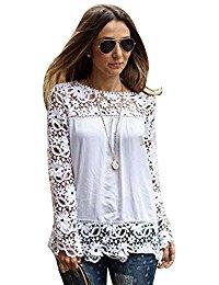 Blanc Chemisiers et blouses / Femme : Vêtements