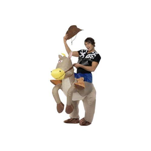 Costume cowboy sur cheval gonflable unique pas cher Achat / Vente