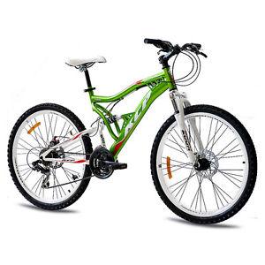26″ Zoll MTB Mountainbike Fahrrad RAD KCP Attack 21 Gang Shimano GRÜN