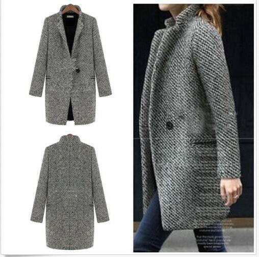 Femme Hiver Chaude Trench Manteau Vêtements Pardessus Parka Vintage