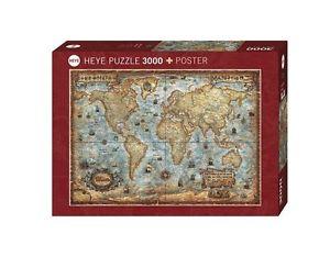 sur Puzzle 3000 pièces Carte Antique hy29275 puzzles Heye le monde