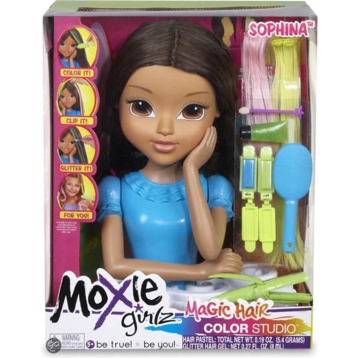tête à coiffer Avery Moxie Girlz avec de superbes cheveux à coiffer