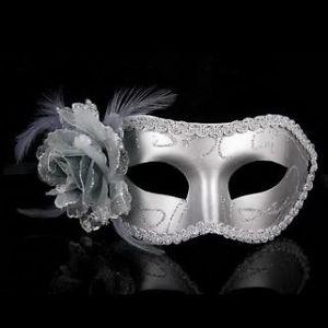 Déguisement Bal Masqué Mascarade Argent Fleur Vénitien Ballon Fête
