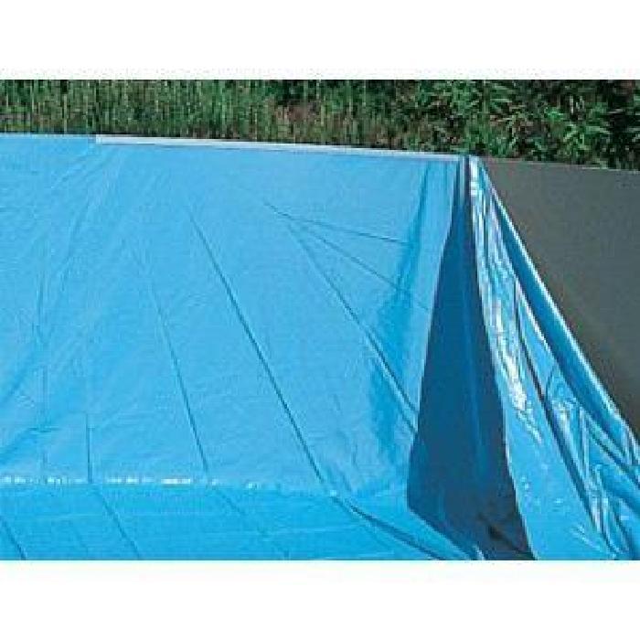 Liner piscine ovale 7.30×3.70m hauteur 1.20à1.32m Liner uni bleu