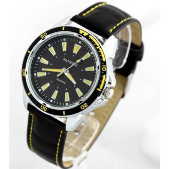 mp3 montre homme bracelet cuir noir 821 montre homme mode homme