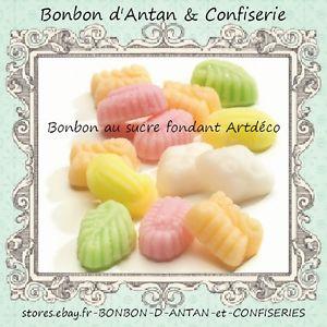 Bonbon Fondant en sucre artdeco ballotin 250g Confiserie ancienne