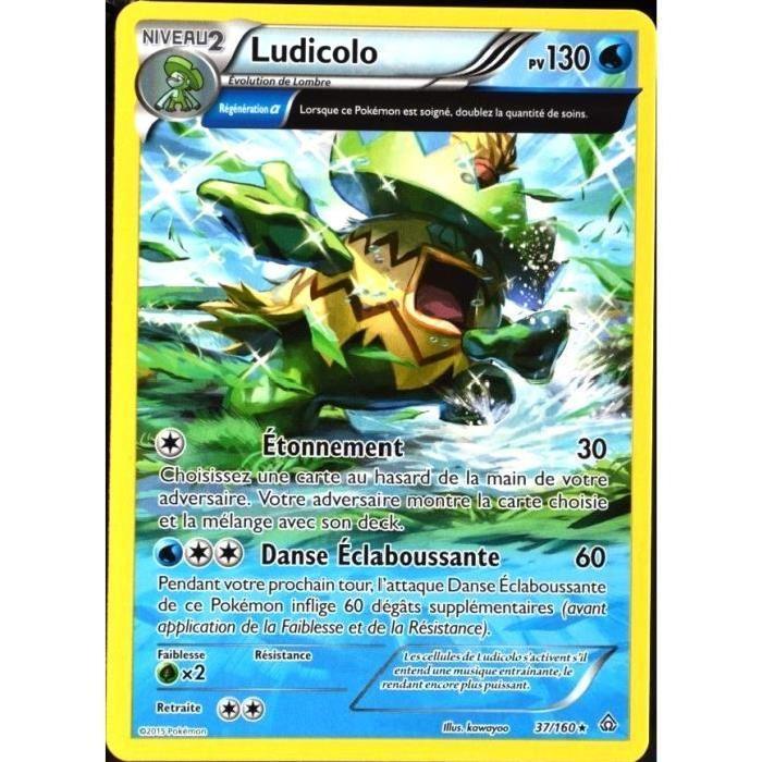 carte pokemon 37 160 ludicolo 130 pv serie xy