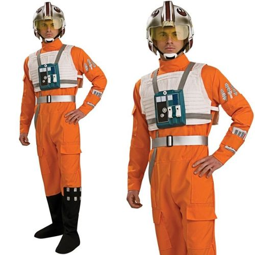 Déguisement pilote X Wing Star Wars homme unique/standard Costume