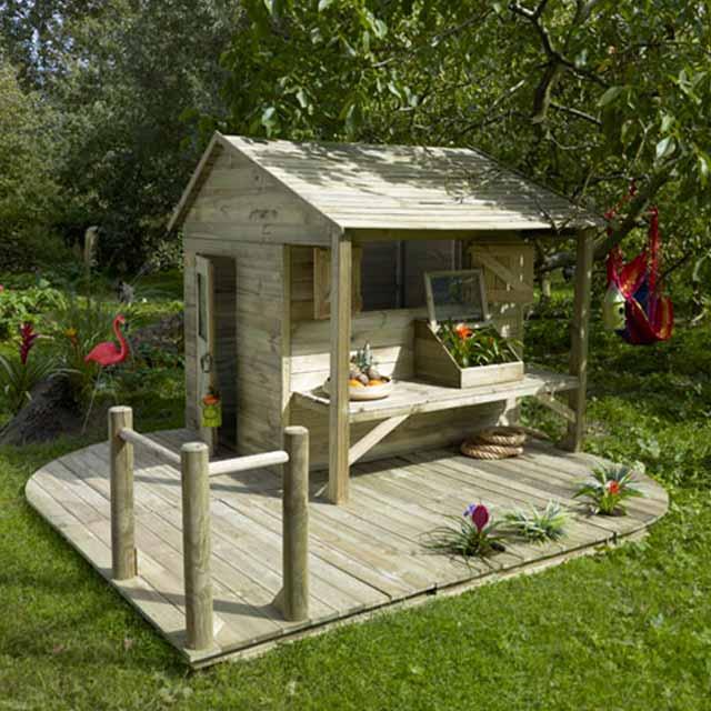 Maisonnette en bois Ciboulette CASTORAMA