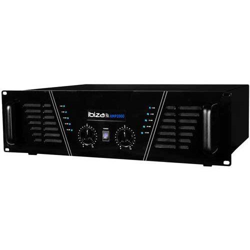 Ibiza Sound Amplificateur sono 2 x 1500 W Max Amp 2000 S pas cher