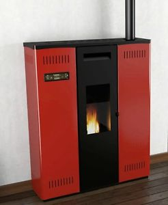 POELE A MUR CANALISEE A GRANULES PELLET PUNTO FUOCO SOLE 11 kw 200 m3