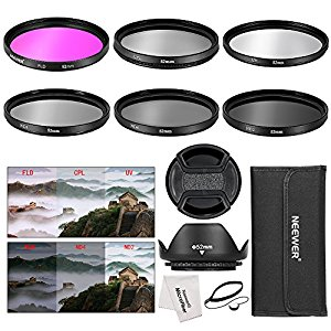Kit d'Accessoires 52MM Filtre Objectif Caméra pour Nikon D3300 D3200