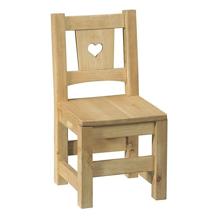 Chaise enfant brut prêt à peindre avec coeur Achat / Vente chaise