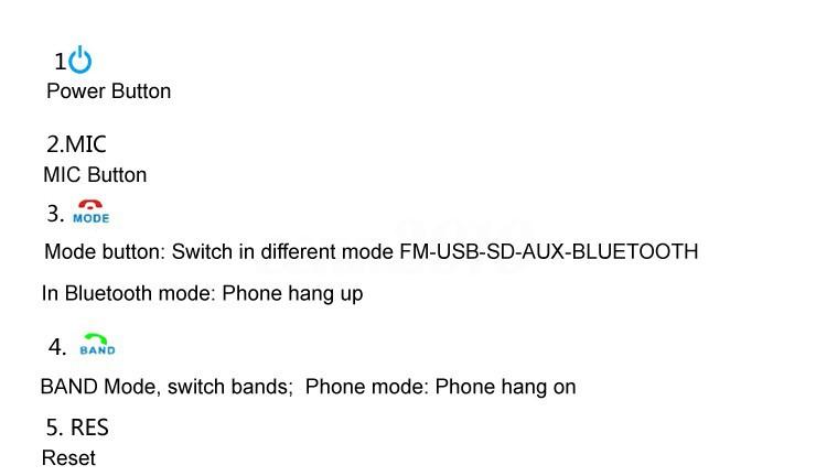 Voiture Dash Bluetooth Autoradio Stéréo Radio 1DIN Lecteur MP3 USB