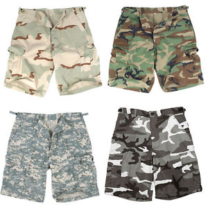 BERMUDA SHORT MILITAIRE CAMOUFLAGE OUTDOOR PAINTBALL ARMEE CARGO