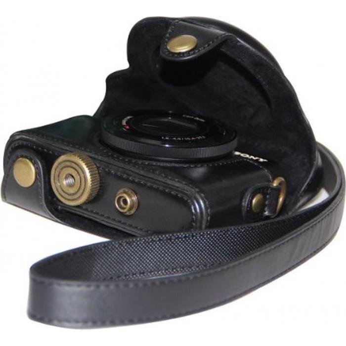 en cuir noir pour appareil photo Sony DSC RX100 RX100 (PAS POUR RX100