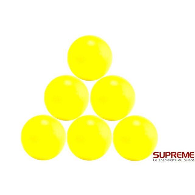 Balles baby foot plastique jaune (par 10) couleur unique Longoni | La