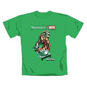 Marvel vs Technics T Shirt Iron Man vert (XL): Jeux et