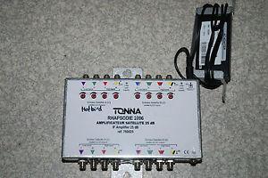 Amplificateur satellite BIS 8 entré/8 sortie 24 db TONNA