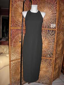 robe longue dos nu Paul BRIAL noire soirée cérémonie dress evening