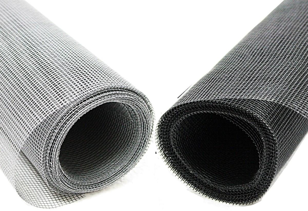 Moustiquaire fibre de verre, toile anthracite enduite de Pvc, mètre