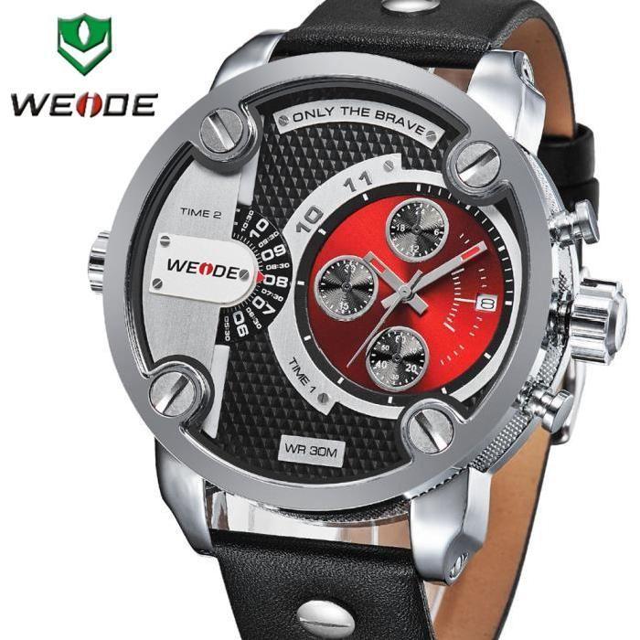WEIDE Montres Hommes militaire Quartz Montre Sport Luxury Brand