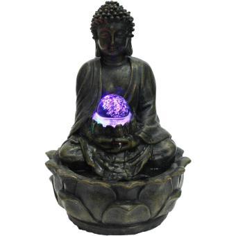 Fontaine d'intérieur bouddha méditation en résine 15x15x20cm, Top