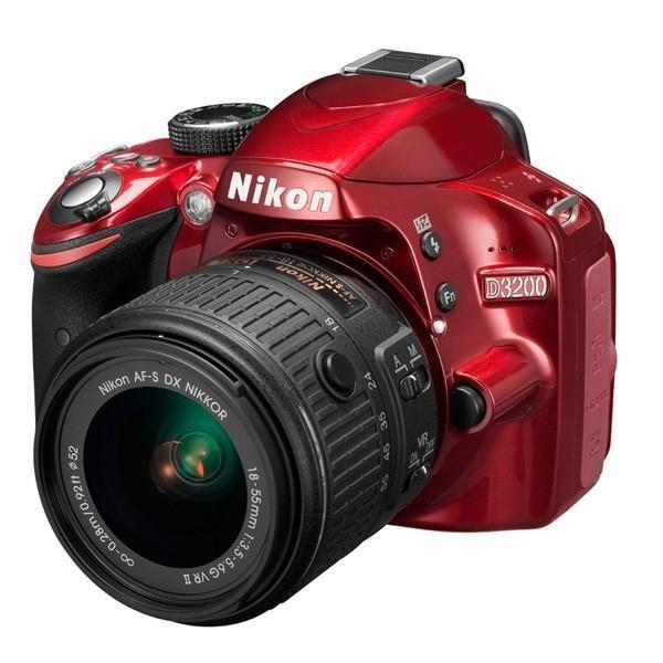 NIKON D3200 Rouge + AF S DX 18 55 VR II Achat / Vente appareil photo