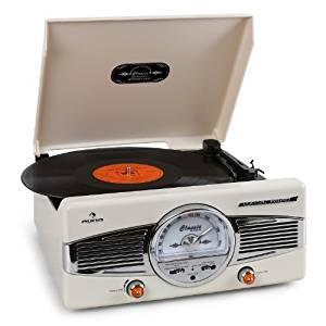 Auna MG TT 82 Platine vinyle chaine stéréo avec tuner radio FM